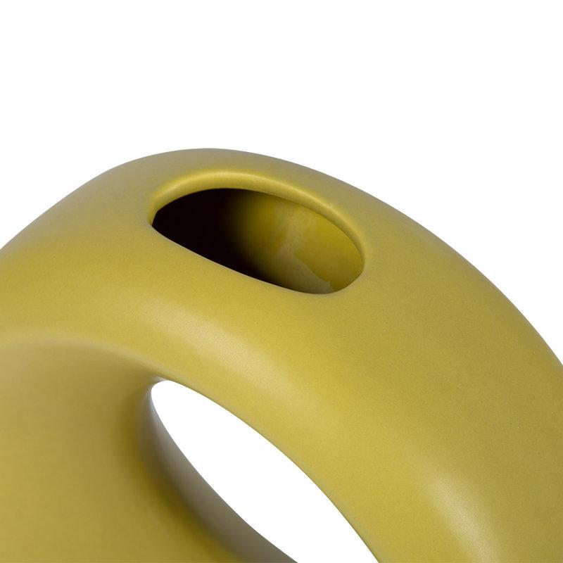 HKliving-collectie ceramic circle vase S green