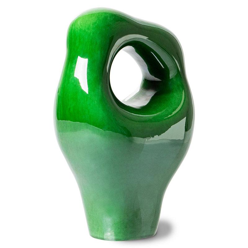 HKliving-collectie Sculpture glossy groen keramiek