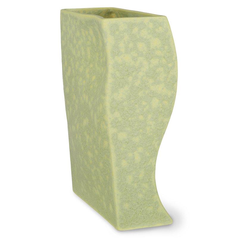 HKliving-collectie HK objects: ceramic block vase matt pistachio