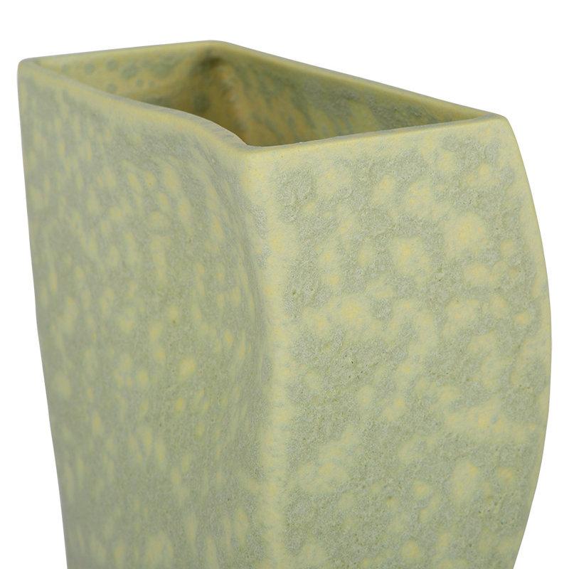 HKliving-collectie Block vaas keramiek mat pistachio