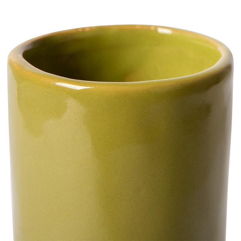 HKliving-collectie Twisted vaas keramiek glossy olijf