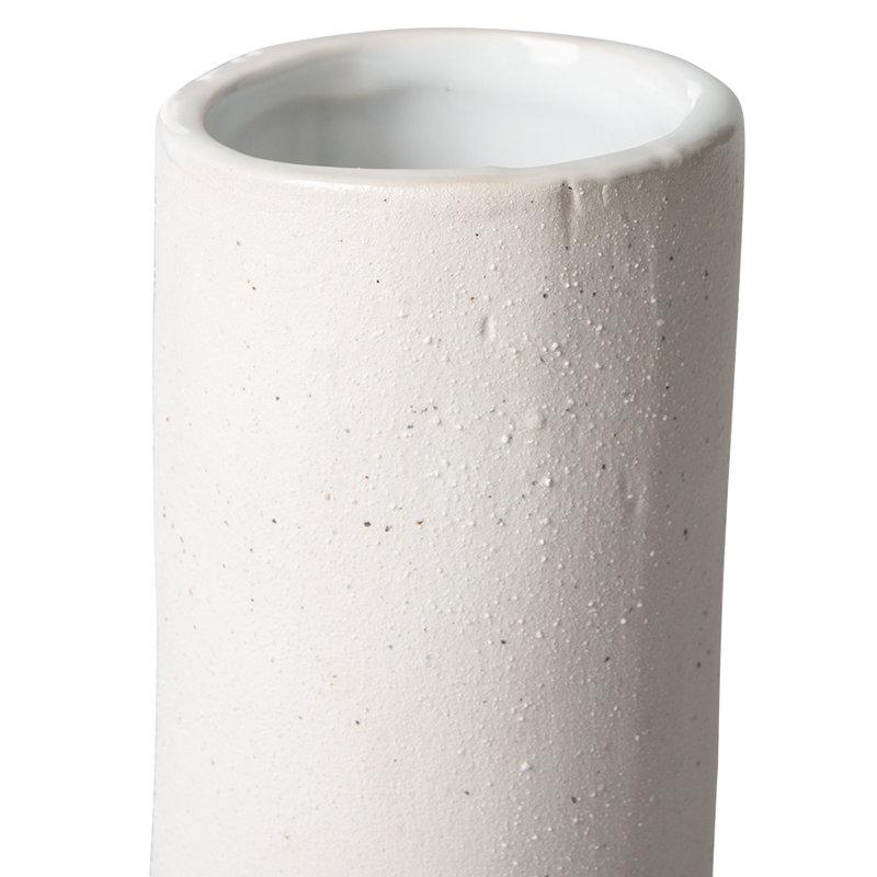 HKliving-collectie Twisted vaas keramiek mat wit