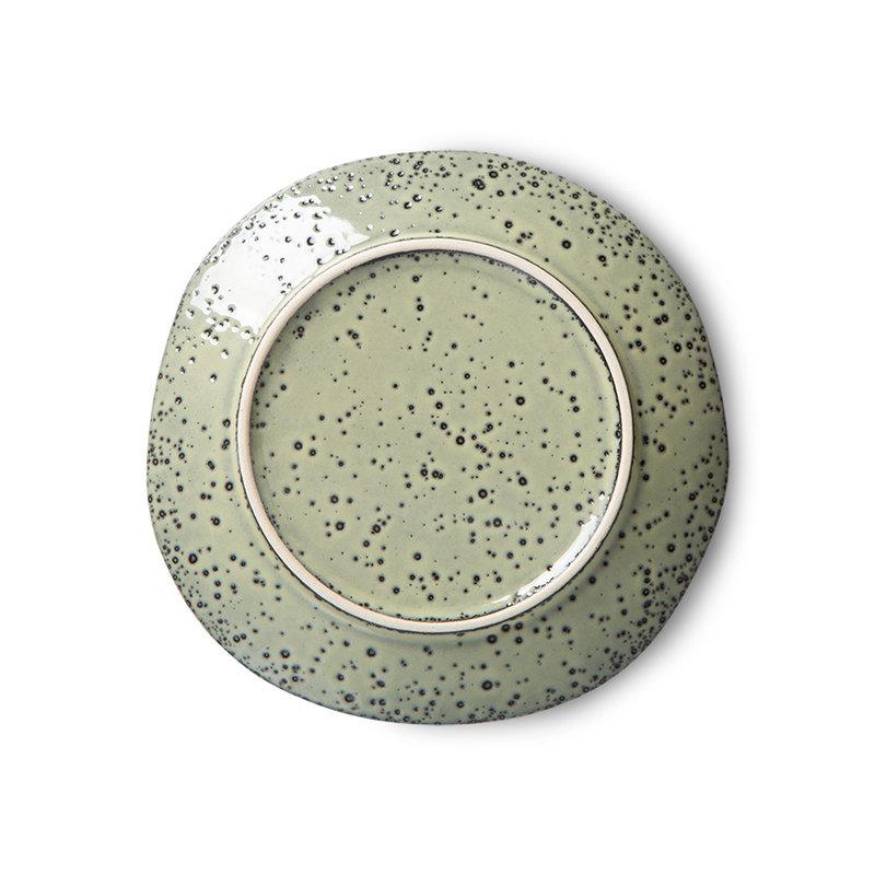 HKliving-collectie Gradient keramiek dessertbord groen (set van 2)