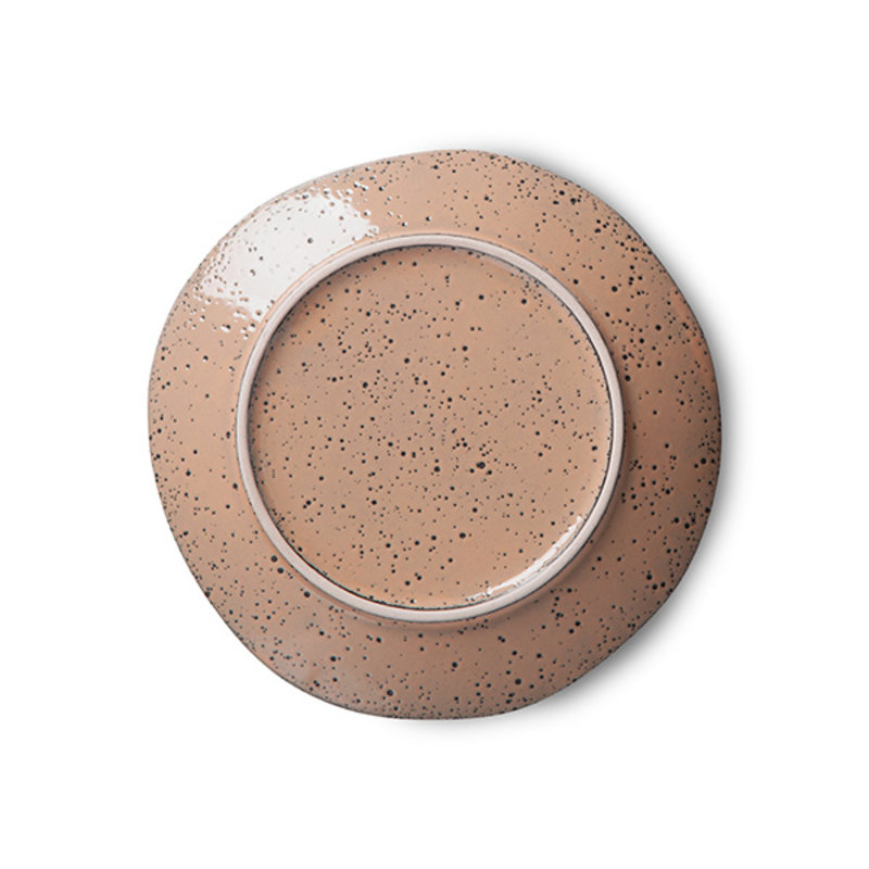 HKliving-collectie gradient ceramics: dessert plate taupe (set of 2)