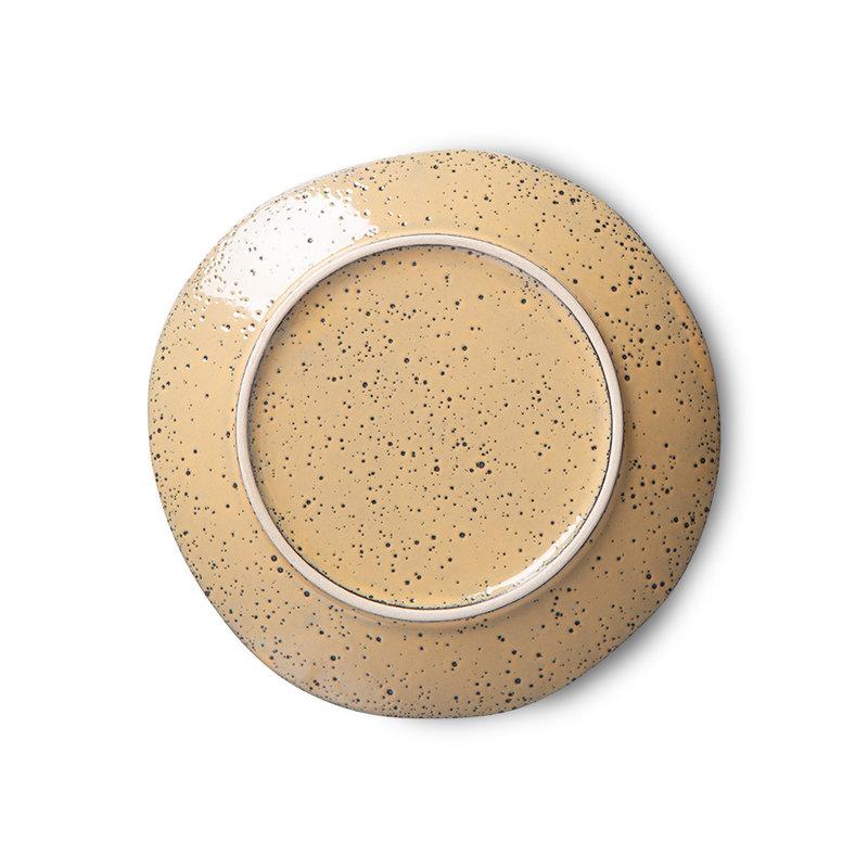 HKliving-collectie gradient ceramics: dessert plate peach (set of 2)