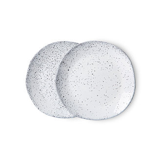 HKliving Gradient keramiek dessertbord creme (set van 2)