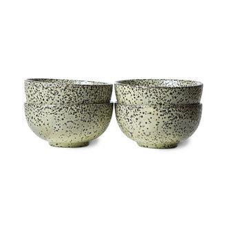 HKliving Gradient keramiek schaal groen (set van 4)