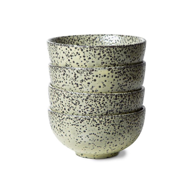 HKliving-collectie Gradient keramiek schaal groen (set van 4)