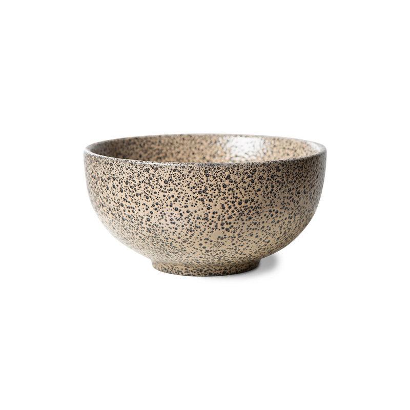 HKliving-collectie gradient ceramics: bowl taupe (set of 4)