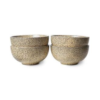 HKliving Gradient keramiek schaal perzik (set van 4)