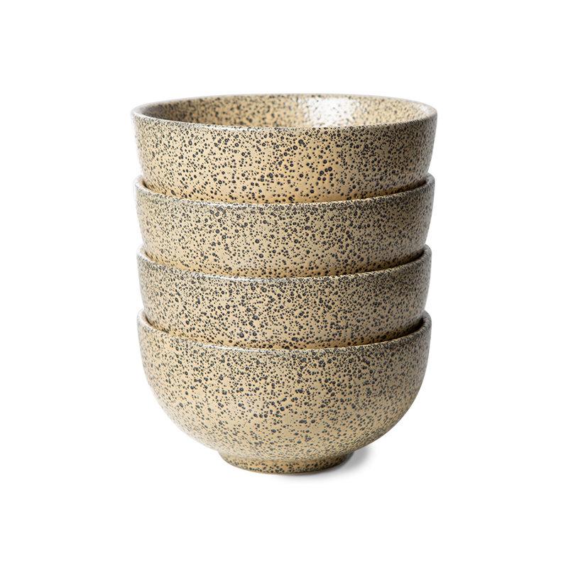 HKliving-collectie gradient ceramics: bowl peach (set of 4)