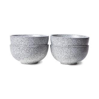 HKliving Gradient keramiek schaal creme (set van 4)