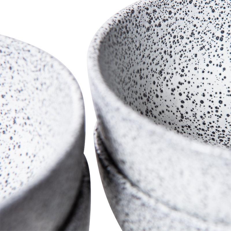 HKliving-collectie Gradient keramiek schaal creme (set van 4)