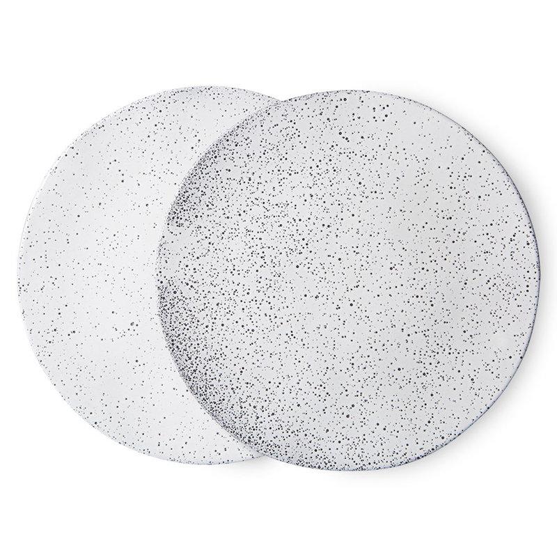 HKliving-collectie Gradient keramiek dinerbord creme (set van 2)