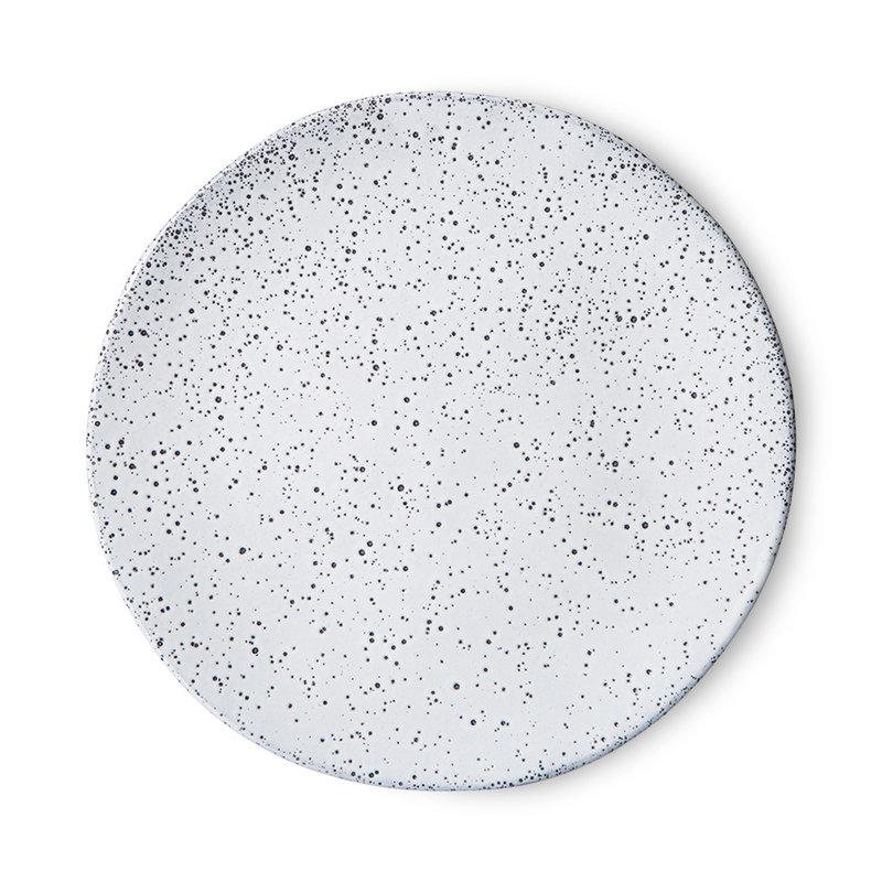 HKliving-collectie Gradient keramiek bijgerecht bord creme (set van 2)