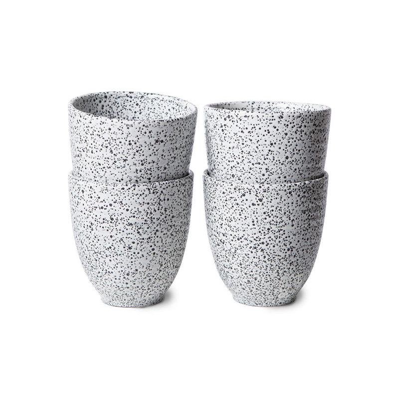 HKliving-collectie Gradient keramiek mok creme (set van 4)