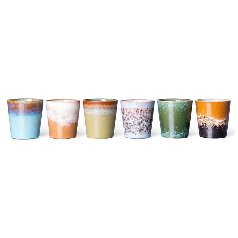 HKliving-collectie 70s servies koffiemokjes (set van 6)
