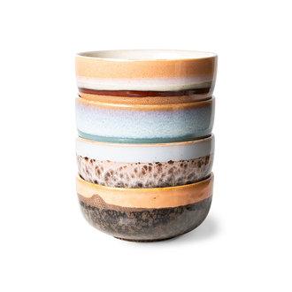 HKliving 70s ceramics: tapas bowls (set of 4)