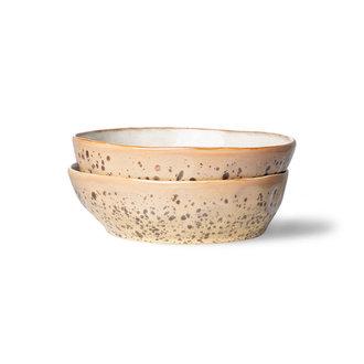 HKliving 70s ceramics: pasta bowls, tiger (set of 2)