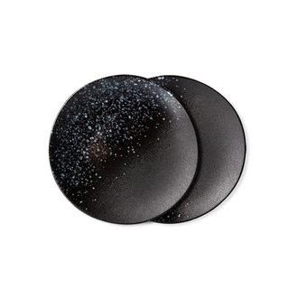 HKliving 70s ceramics: dessert plates, stars (set of 2)