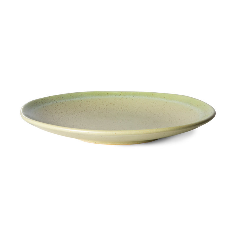 HKliving-collectie 70s ceramics: side plates, pistachio (set of 2)