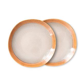 HKliving 70s ceramics: side plates, earth (set of 2)