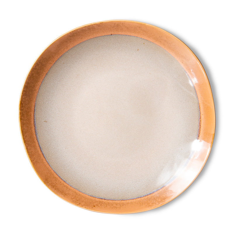 HKliving-collectie 70s ceramics: side plates, earth (set of 2)