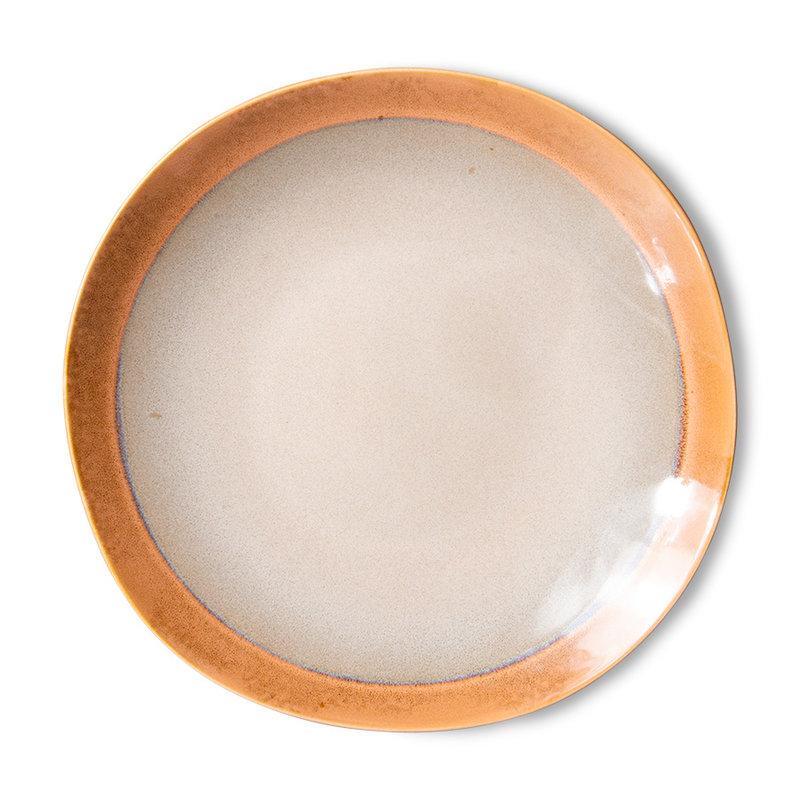 HKliving-collectie 70s servies bijgerecht borden earth (set van 2)