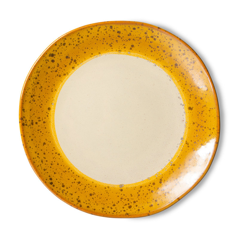 HKliving-collectie 70s ceramics: side plates, autumn (set of 2)