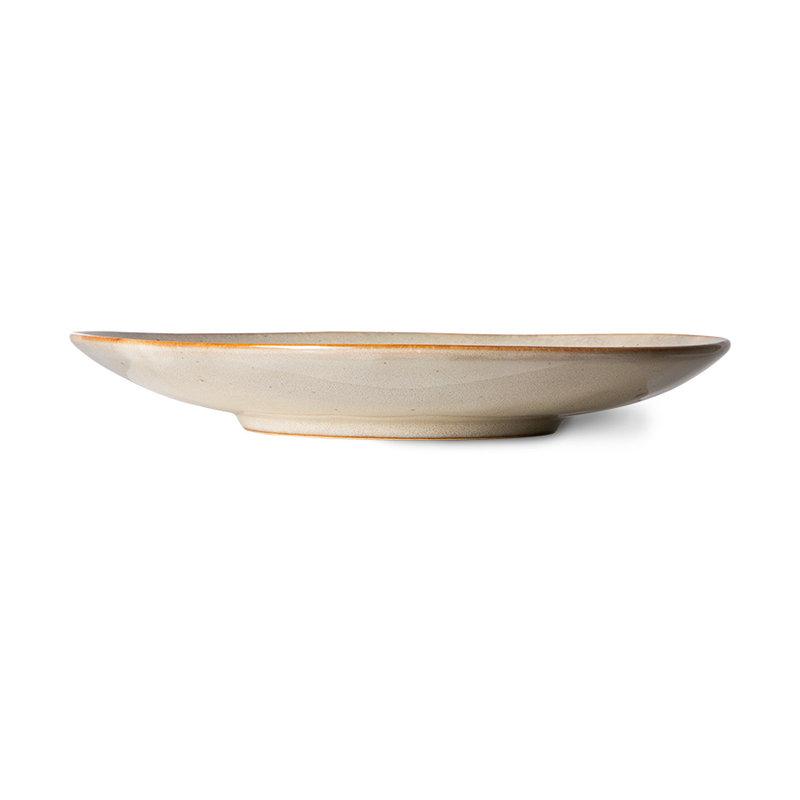HKliving-collectie 70s servies bijgerecht borden mist (set van 2)