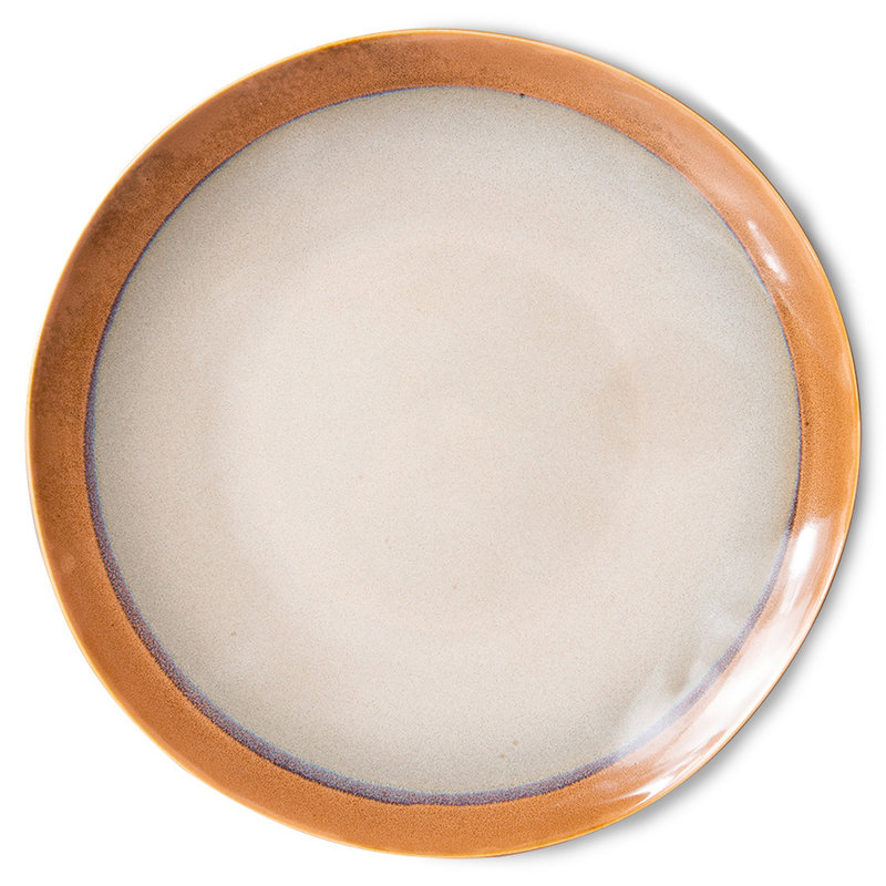 HKliving-collectie 70s ceramics: dinner plates, earth (set of 2)