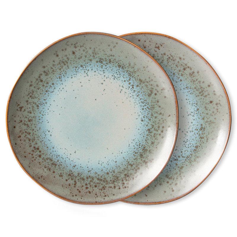 HKliving-collectie 70s servies dinerborden mineral (set van 2)