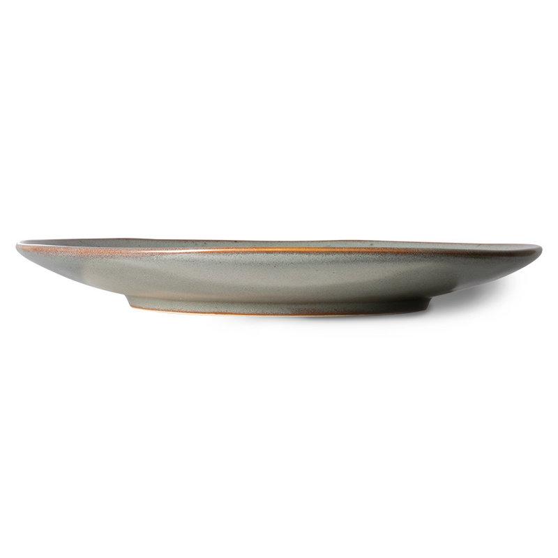 HKliving-collectie 70s ceramics: dinner plates, mineral (set of 2)