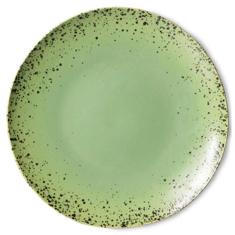 HKliving-collectie 70s servies dinerborden kiwi (set van 2)