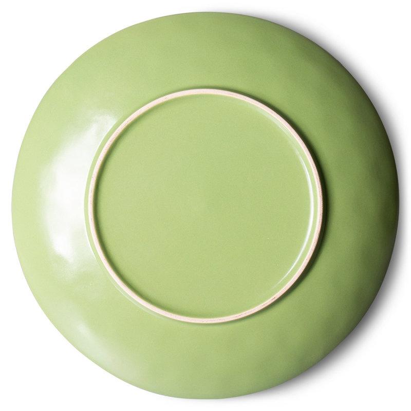 HKliving-collectie 70s ceramics: dinner plates, kiwi (set of 2)