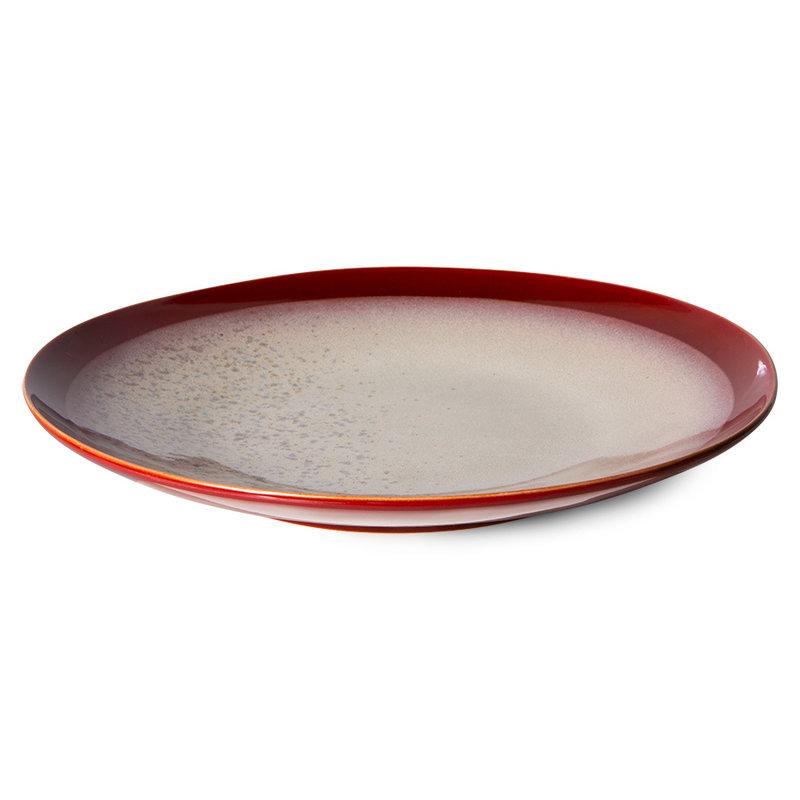 HKliving-collectie 70s servies dinerborden frost (set van 2)