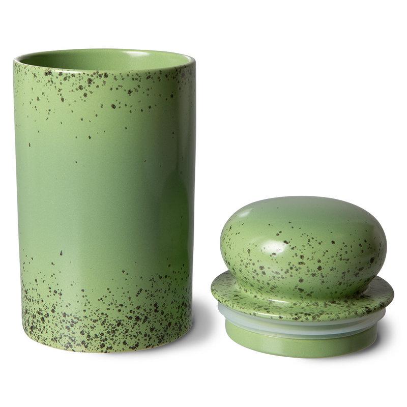 HKliving-collectie 70s ceramics: storage jar, kiwi
