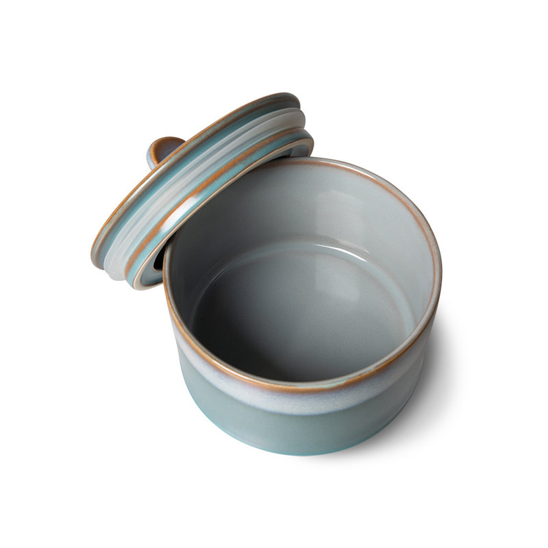 HKliving-collectie 70s ceramics: cookie jar, dusk
