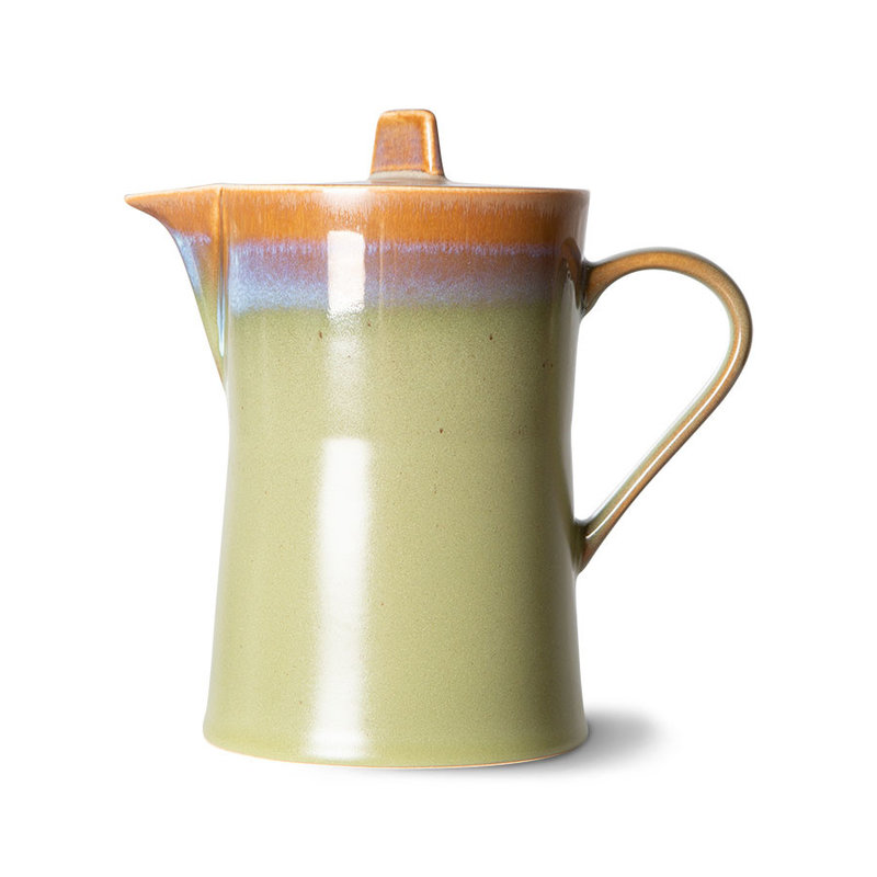 HKliving-collectie 70s ceramics: tea pot, peat