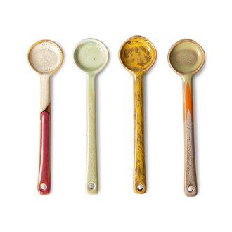 HKliving 70s ceramics: spoons M (set of 4)