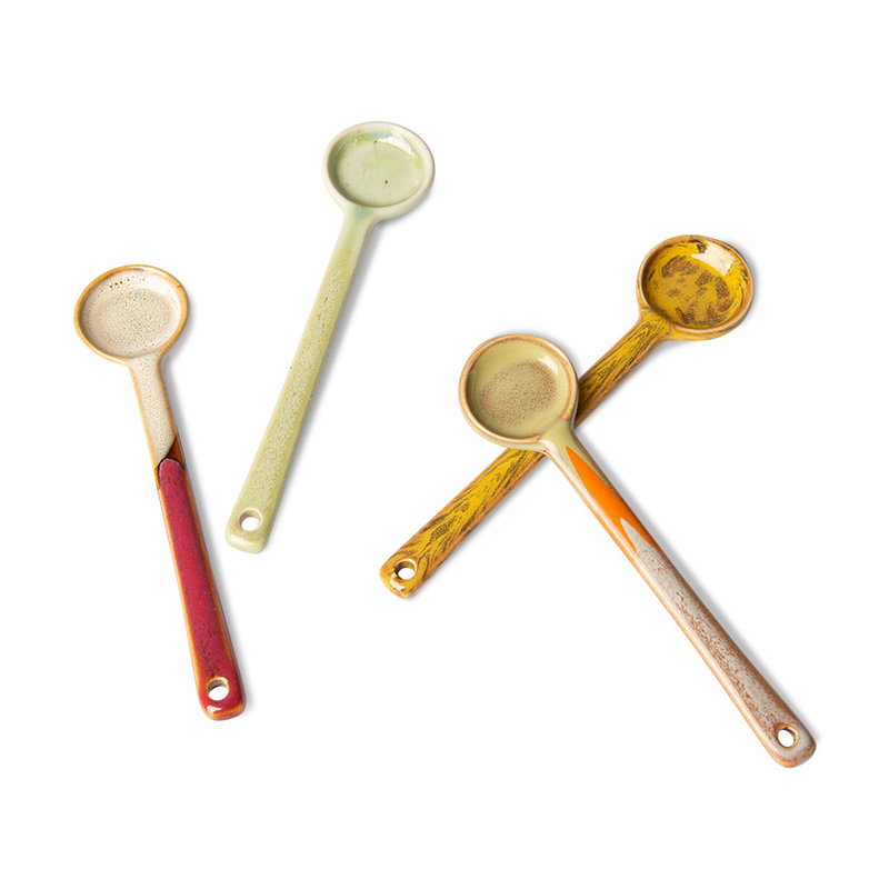 HKliving-collectie 70s ceramics: spoons M (set of 4)