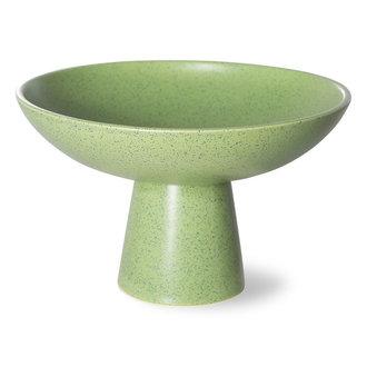 HKliving The emeralds keramiek schaal on base M pistachio