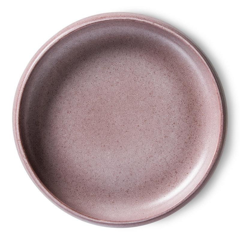 HKliving-collectie Bold & basic keramieks diep bord paars (set van 2)