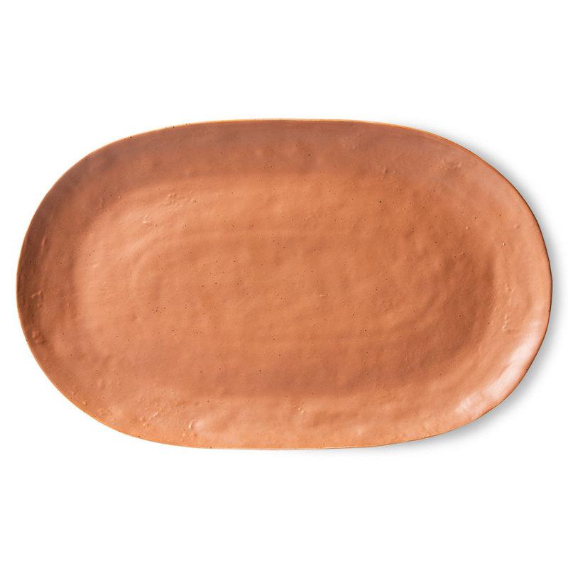 HKliving-collectie Bold & basic keramieks serveerschaal bruin