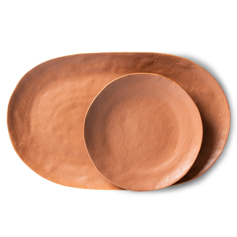 HKliving-collectie bold & basic ceramics: serving tray brown