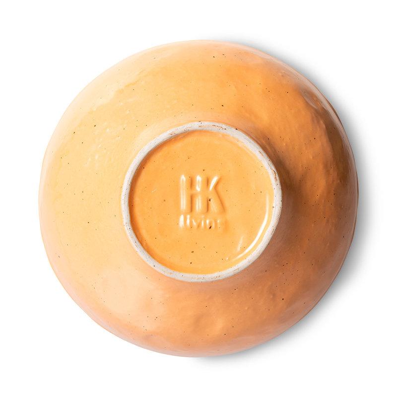 HKliving-collectie Bold & basic keramieks grote schaal oranje (set van 2)