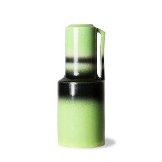 HKliving The emeralds keramiek vaas groen met handvat