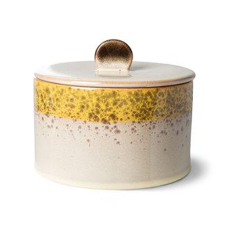 HKliving 70s ceramics: cookie jar, autumn