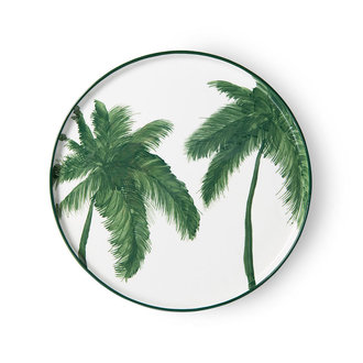 HKliving Bold & basic keramieks dinerbord palms groen porselein