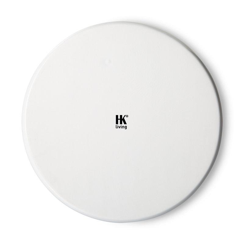 HKliving-collectie bold & basic ceramics: porcelain side plate palms, green